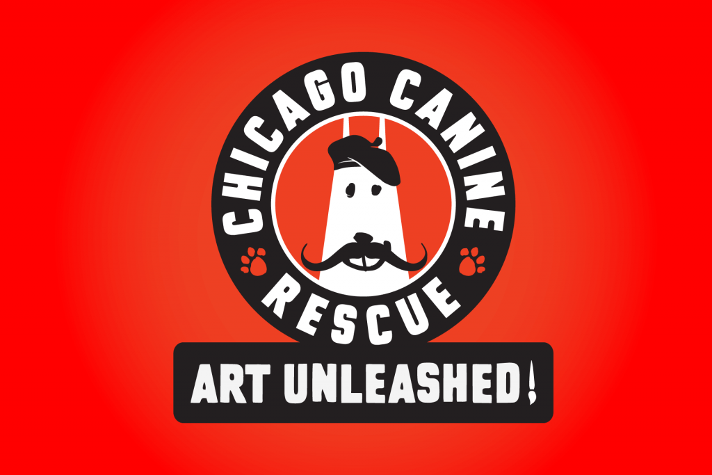Chicago Canine Rescue Art Unleashed! Logo