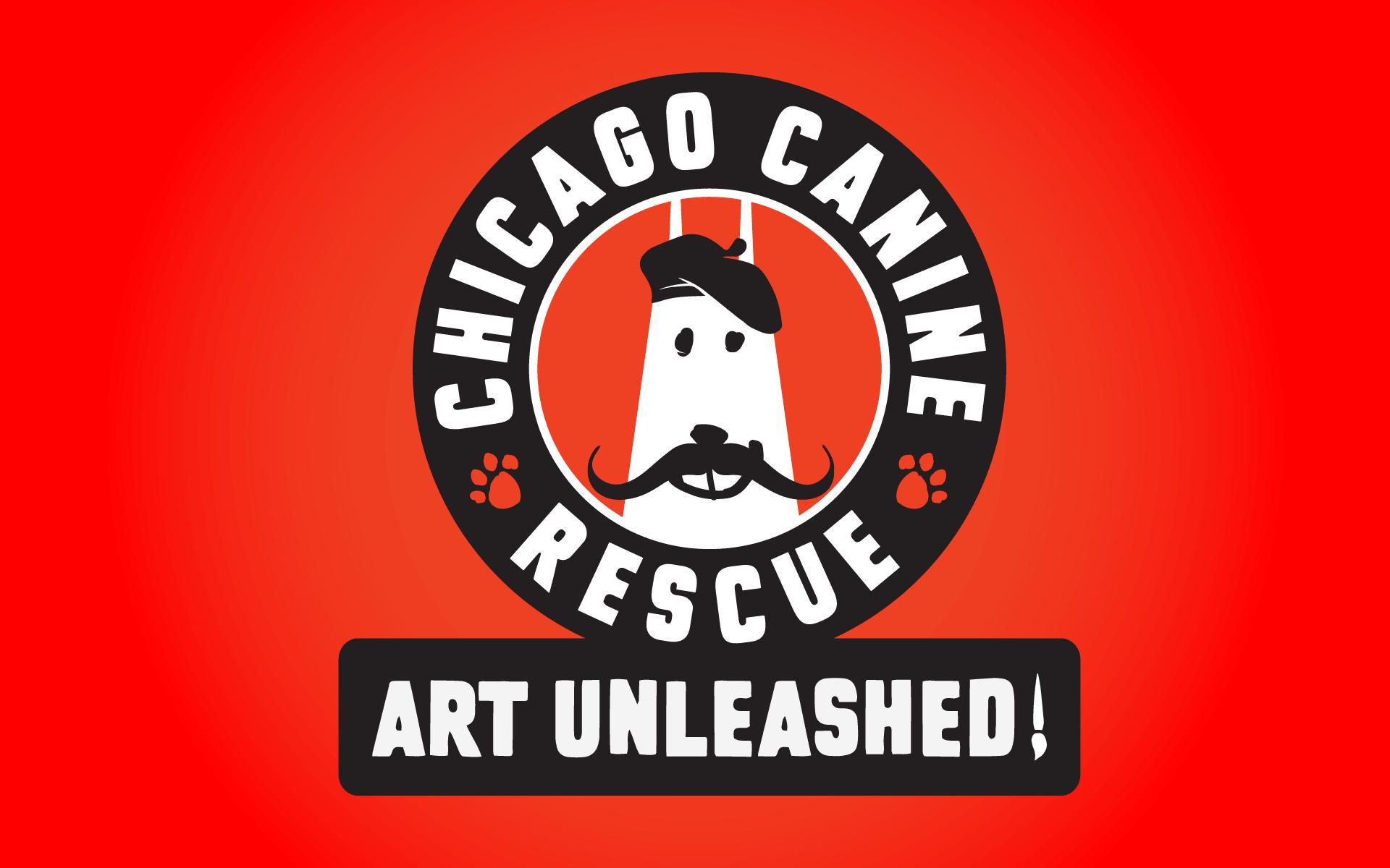 Chicago Canine Rescue Art Unleashed! Logo