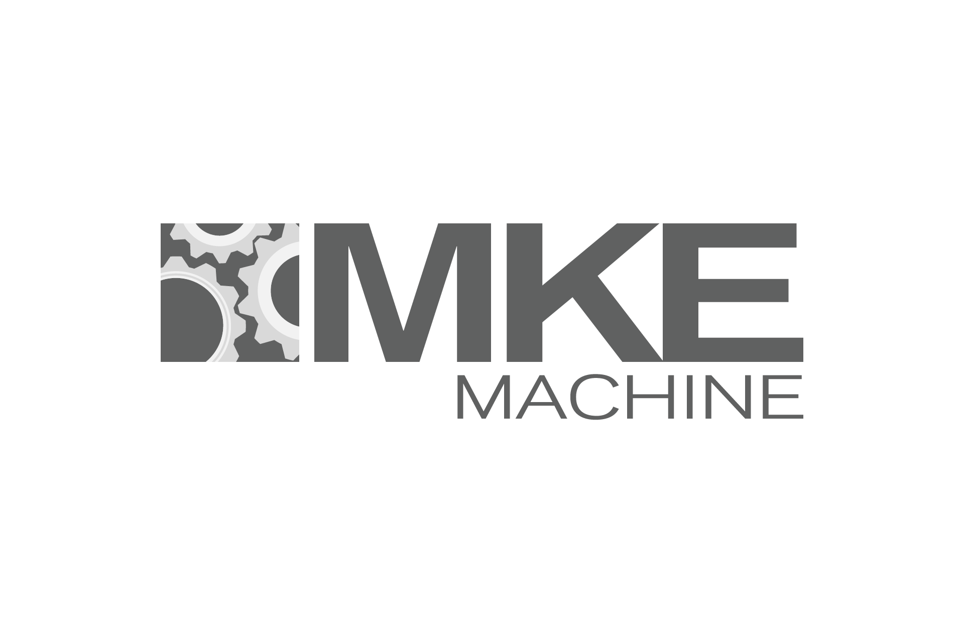 mke machine logo design connor warden design