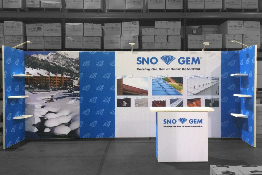 Sno Gem Trade Show Booth - Front