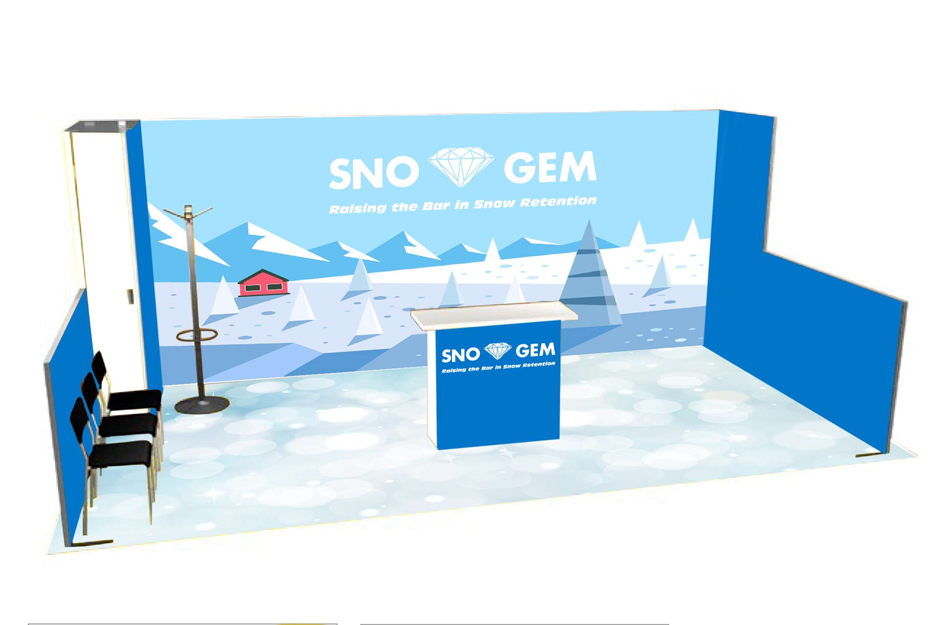 Sno Gem Trade Show Booth - Concept 2
