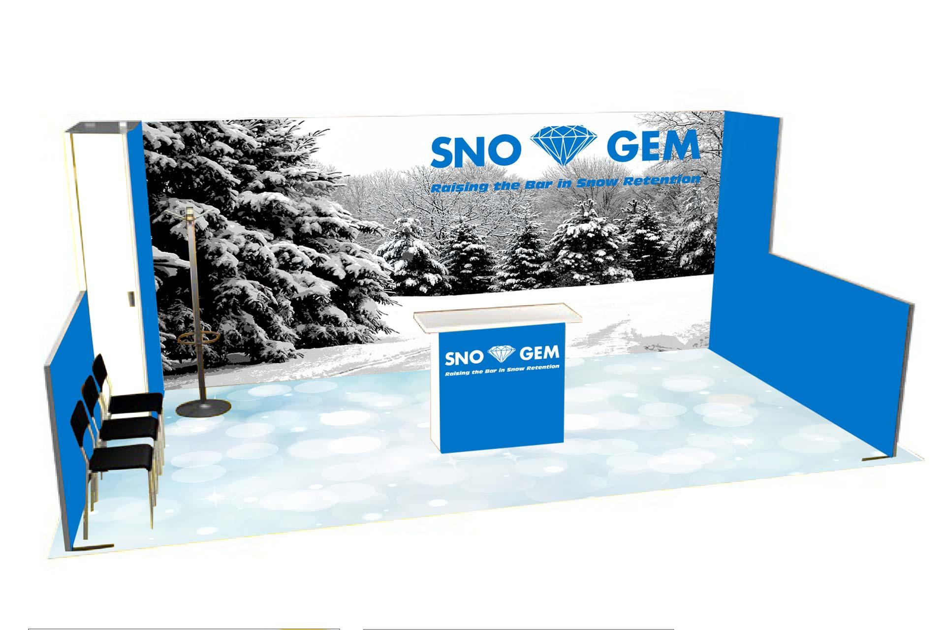 Sno Gem Trade Show Booth - Concept 3